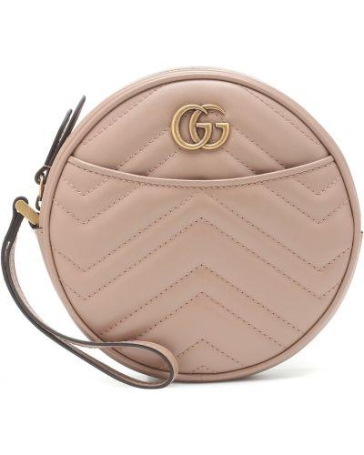 Torba sprzęgło okrągły różowy Gucci