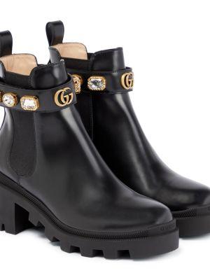 Сапоги черные Gucci