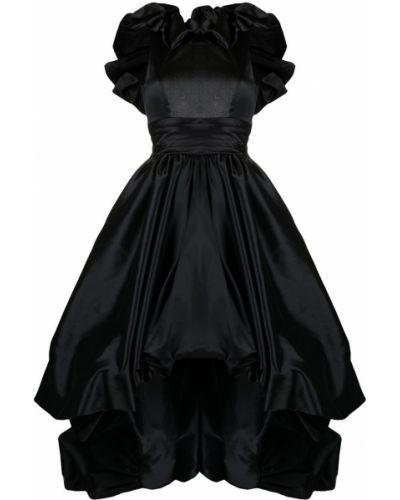 Открытое шелковое черное вечернее платье Zuhair Murad