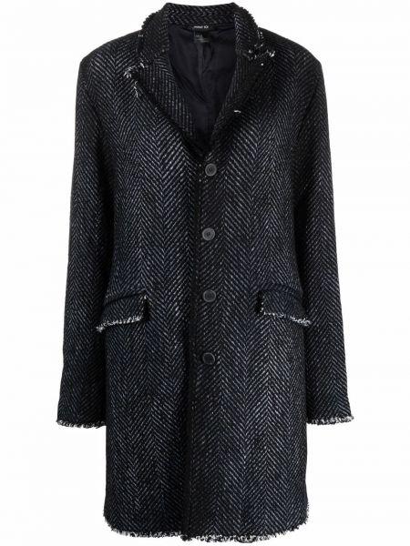 Черное пальто с карманами Avant Toi