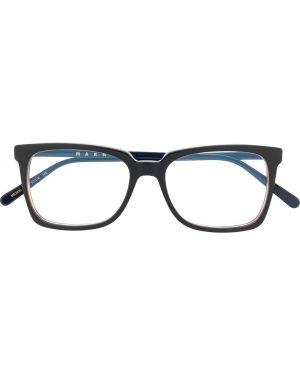 Черные очки для зрения квадратные Marni Eyewear