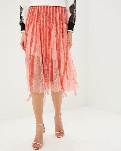 Плиссированная юбка розовая Pinko