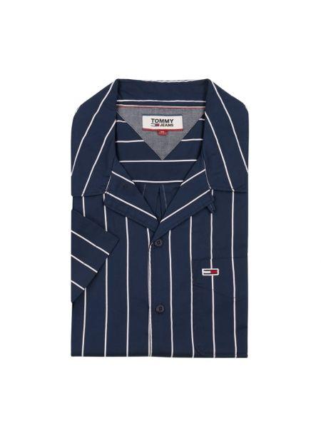 Koszula krótkie z krótkim rękawem z paskami w paski Tommy Jeans