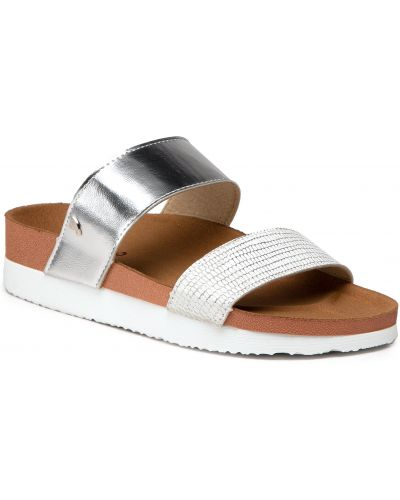 Sandały srebrne - białe Gioseppo