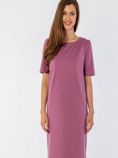 Повседневное платье розовое осеннее S&a Style