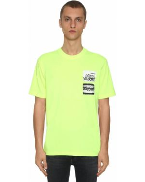 Żółty t-shirt bawełniany Calvin Klein Established 1978