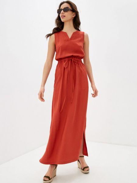 Платье коралловый прямое Pf