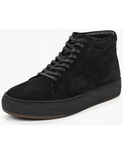 Ботинки осенние замшевые черные Vagabond