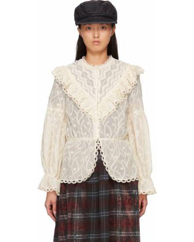 Белая блузка с воротником Anna Sui