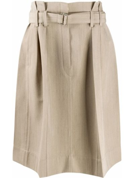 Spódnica plisowana - beżowa Lemaire