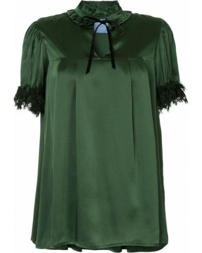 Блузка с рюшами зеленый Macgraw