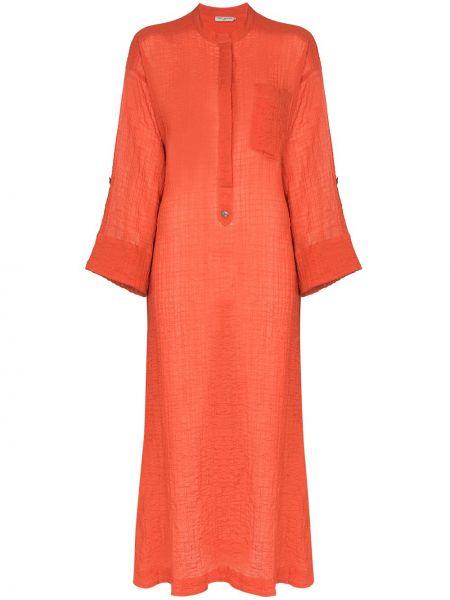 Платье макси на пуговицах с карманами Three Graces