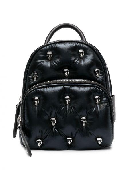 Кожаная черная сумка с заклепками Karl Lagerfeld