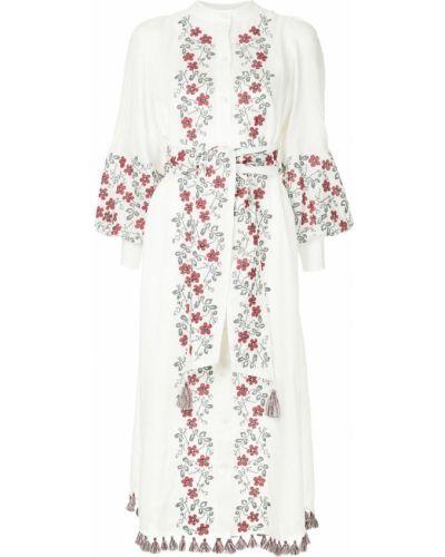 Платье на пуговицах с цветочным принтом Zimmermann