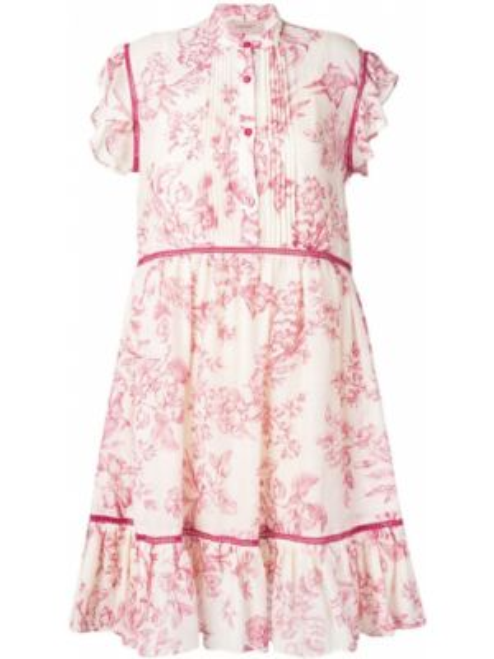 Платье мини на пуговицах с цветочным принтом Twin-set