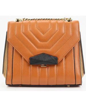 Кожаная сумка через плечо коричневый Labbra