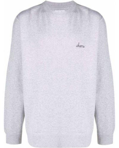 Bluza długa z długimi rękawami bawełniana z printem Maison Labiche