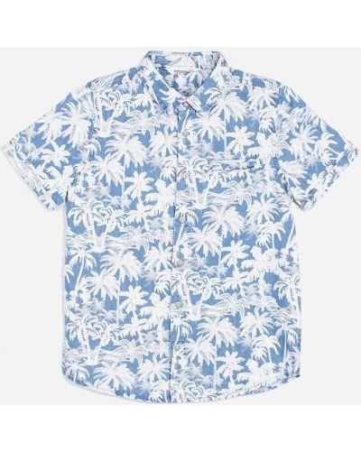 Клубная рубашка свободного кроя с аппликациями Coccodrillo