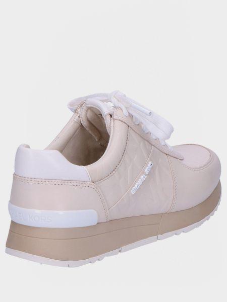 Мягкие кожаные белые кроссовки Michael Kors
