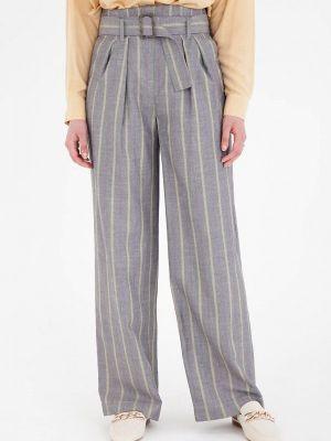 Серые брюки повседневные Gregory