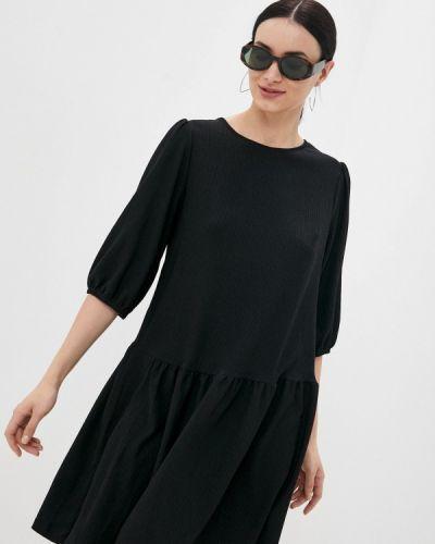 Прямое черное платье А-силуэта Mark Formelle