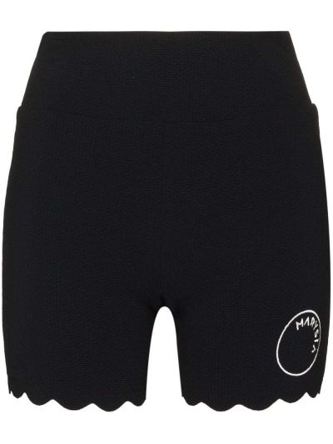Черные шорты из эластана Marysia