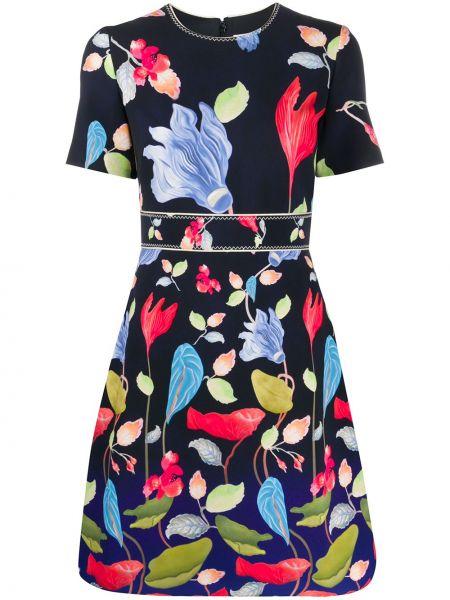 Платье мини с цветочным принтом на молнии Peter Pilotto