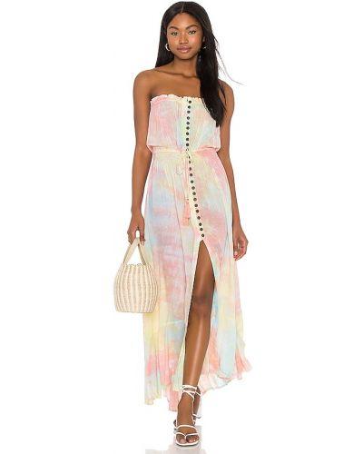 Розовое платье с декольте на резинке Tiare Hawaii