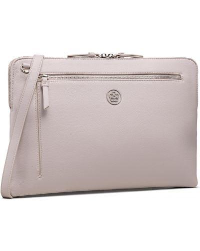 Beżowa torba na laptopa Quazi