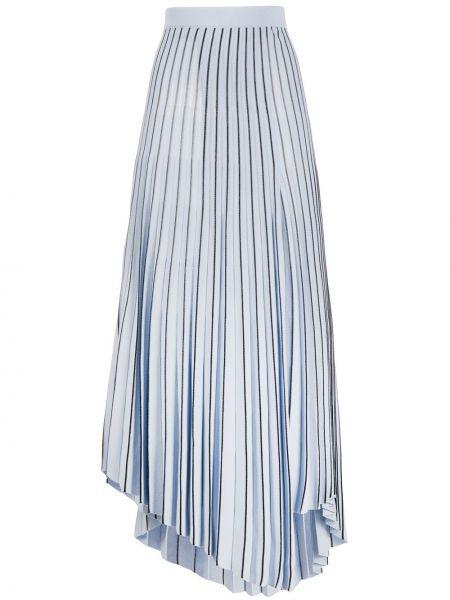Плиссированная юбка с завышенной талией асимметричная Mrz