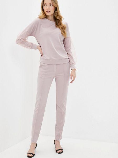 Облегающий костюмный розовый брючный костюм Xarizmas