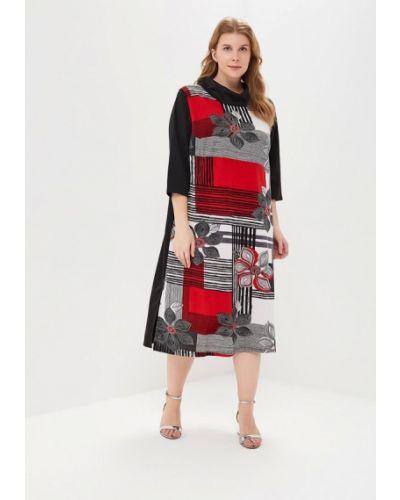Повседневное платье красный осеннее Артесса