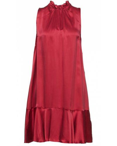 Шелковое платье - малиновое Badgley Mischka