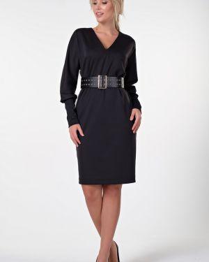 Платье с поясом с V-образным вырезом летучая мышь Valentina