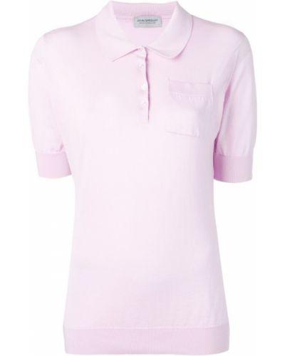 Розовая классическая рубашка с лебяжьим пухом John Smedley