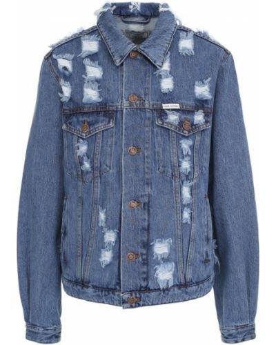 Джинсовая куртка свободная синий Forte Couture