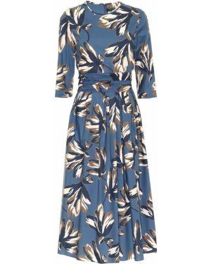 Платье миди с цветочным принтом с принтом 's Max Mara