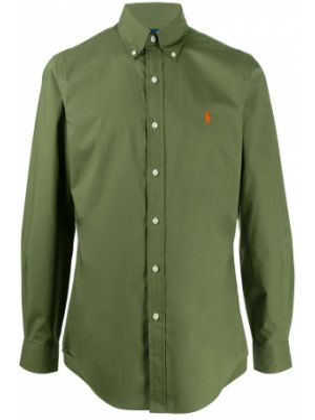 Koszula z długim rękawem długa zielona Ralph Lauren