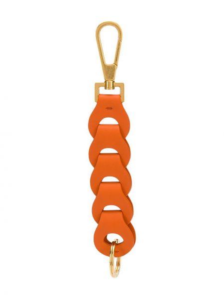 Оранжевый брелок металлический Bottega Veneta