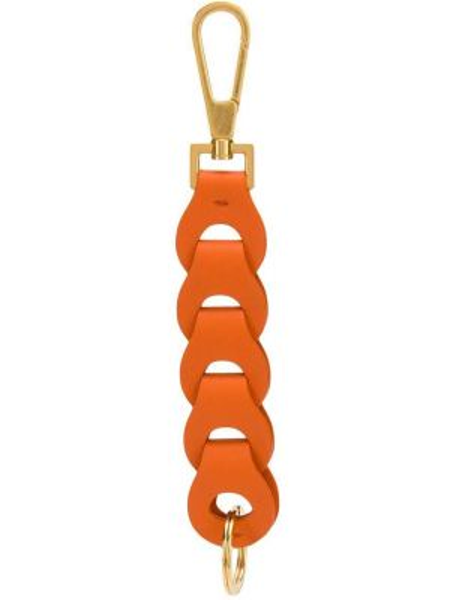 Брелок кожаный оранжевый Bottega Veneta