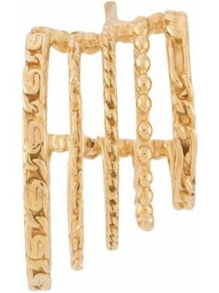 Золотистые желтые серебряные серьги Wouters & Hendrix