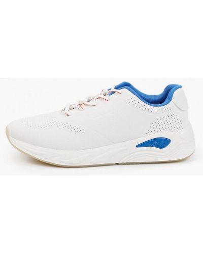 Белые кожаные низкие кроссовки S.oliver