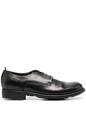 Ажурные кожаные черные пинетки на шнурках Officine Creative