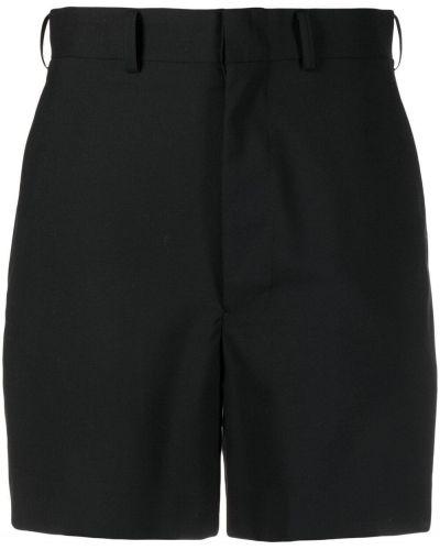 Шерстяные черные шорты с карманами Junya Watanabe