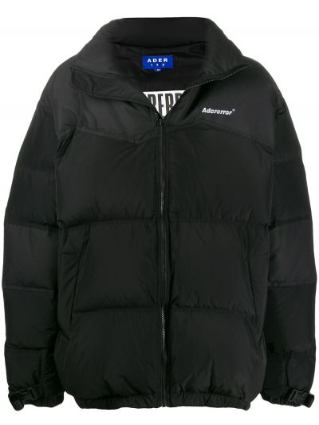 Długa kurtka z kieszeniami czarna Ader Error