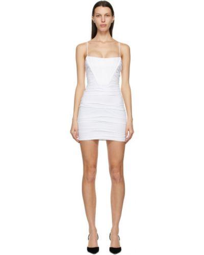 Белое платье мини с сеткой без рукавов Alexander Wang