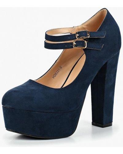Туфли на каблуке с застежкой на лодыжке осенние Tulipano