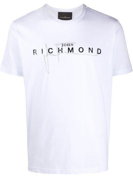 Футболка с вышивкой с логотипом John Richmond