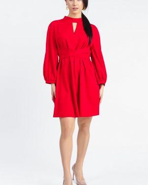 Платье с поясом на пуговицах со складками Lacywear