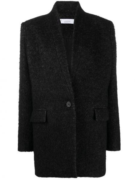 Шерстяной серый удлиненный пиджак с карманами Iro